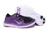 Womens Nike Free 4.0 Flyknit Purple Black