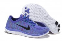 Womens Nike Free 4.0 Flyknit Blue Black