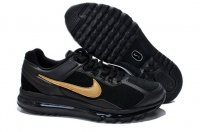 Mens Air Max 2013 Leather Black Gold