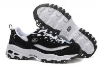 Women's Skechers D'lites - Biggest Fan Black White
