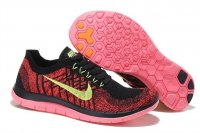 Womens Nike Free 4.0 Flyknit Red Black
