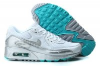 Womens Air Max 90 Splatter Pack White/Metallic Silver