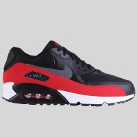 Nike Air Max 90 Essential Black Dark Grey University Red