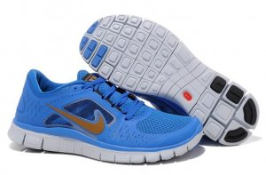 Womens Nike Free Run+ 3 Blue Glod