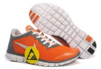 Womens Nike Free Run+ 3 Orange Grey