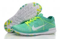 Womens Nike Free 5.0 Flyknit Green White