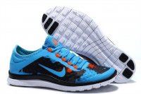 Womens Nike Free 3.0 V7 Black Blue
