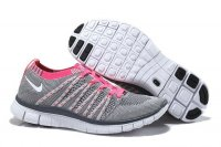 Womens Nike Free 5.0 Flyknit NSW Grey Pink