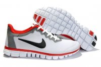 Womens Nike Free Run+ 3 White Grey