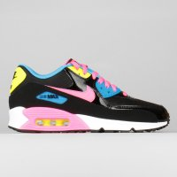 Nike Air Max 90 Mesh (GS) Black Pink Pow White Photo Blue
