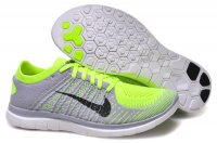 Mens Nike Free 4.0 Flyknit Grey Lemon