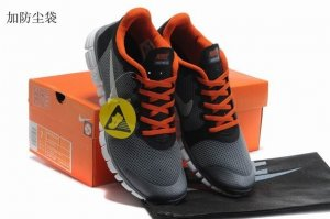 Womens Nike Free Run+ 3 Grey Orange
