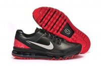 Mens Air Max 2013 Leather Black Red