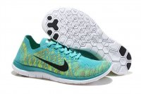 Mens Nike Free 4.0 Flyknit Green Yellow