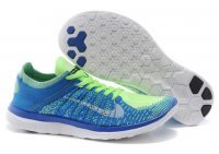 Mens Nike Free 4.0 Flyknit Green Blue