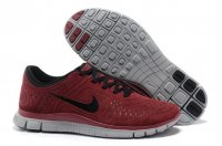 Mens Nike Free 4.0 Fur Red Grey