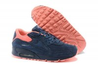 Womens Air Max 90 Premium Dark Blue/Orange