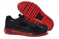 Mens Air Max 2013 Leather Red Black