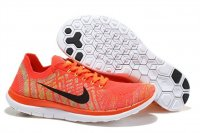 Womens Nike Free 4.0 Flyknit Black Orange