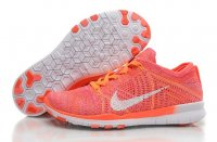 Womens Nike Free 5.0 Flyknit White Orange