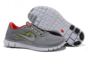 Womens Nike Free Run+ 3 Grey Red