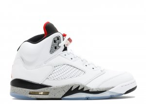 "air jordan 5 retro (gs)""white cement"""