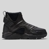 Nike Wmns Air Huarache Run Mid Premium Triple Black