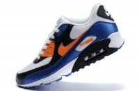 Mens Nike Air Max 90 White/Black/Orange/Blue
