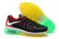 Mens Air Max 2015 Black Yellow Green