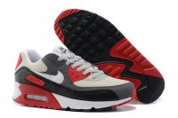 Mens Air Max 90 Cool Grey/Black/White/Red