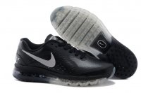 Mens Nike Air Max 2014 Black Silver Leather