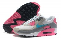 Womens Nike Air Max 90 White/Grey/Pink/Blue
