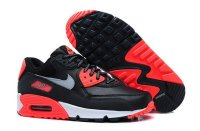 Womens Air Max 90 Black/Red/White/Metallic Silver