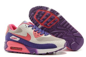 Womens Air Max 90 Hyperfuse Premium Grey/Purple/Pink