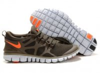 Mens Nike Free 3.0 V3 Khaki Orange