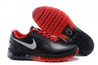 Mens Nike Air Max 2014 Black Red Leather