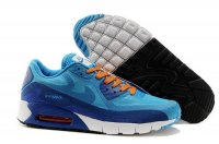 Mens Air Max 90 Breathe Light Blue/Orange/Royal Blue