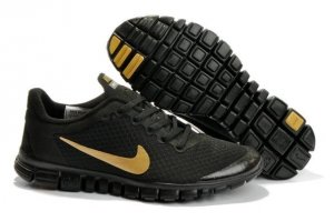Mens Nike Free 3.0 V2 Black Gold