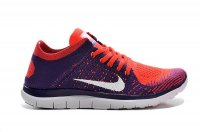 Womens Nike Free 4.0 Flyknit Purple Orange