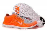 Mens Nike Free 4.0 Flyknit Orange