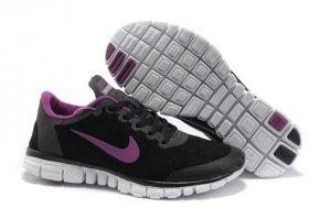 Womens Nike Free 3.0 Fur Black Purple