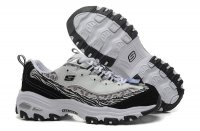 Women's Skechers D'lites - Me Time Leopard Grey White Black