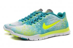 Womens Nike Free TR Fit Green Yellow
