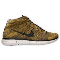Mens Nike Free Flyknit Chukka Black Brown