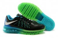 Mens Air Max 2015 Leather Black Green