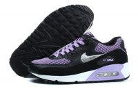 Womens Nike Air Max 90 Black/Purple/White