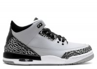 "air jordan 3 retro bg (gs) ""wolf grey"""