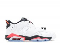 "air jordan 6 retro low bg (gs) ""infrared"""