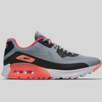 Nike Wmns Air Max 90 Ultra BR Wolf Grey Black Hyper Orange