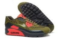Womens Air Max 90 Ultra BR Olive/Black/Bright Red